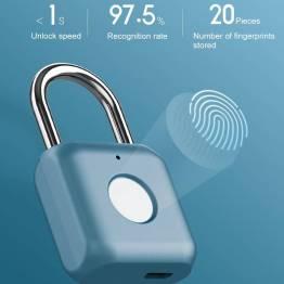 Xiaomi nyckellöst hänglås med fingeravtryck - blått