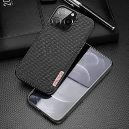 """DUX DUCIS Fino iPhone 13 Pro 6,1"""" skal med vävd yta - svart"""