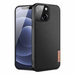 """DUX DUCIS Fino iPhone 13 6,1"""" skal med vävd yta - svart"""