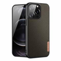 """DUX DUCIS Fino iPhone 13 Pro 6,1"""" skal med vävd yta - grön"""