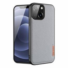 "DUX DUCIS Fino iPhone 13 6,1"" skal med vävd yta - grå"