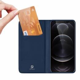 """DUX DUCIS iPhone 13 Pro Max 6,7"""" skal med kortplats och flik - blå"""