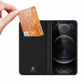 """DUX DUCIS iPhone 13 Pro Max 6,7"""" skal med kortplats och flik - svart"""
