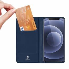 """DUX DUCIS iPhone 13 mini 5,4"""" skal med kortplats och flik - blå"""