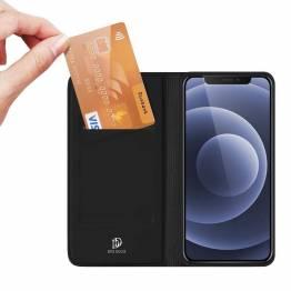"""DUX DUCIS iPhone 13 6,1"""" skal med kortplats och flik - svart"""