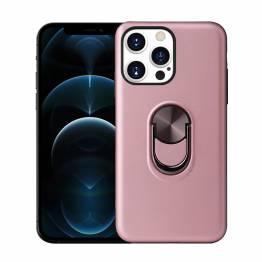 """Smart iPhone 13 Pro skal 6,1"""" med 360° stativ och magnet - Rose Gold"""
