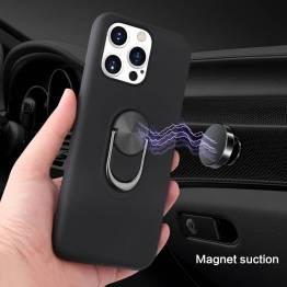 """Smart iPhone 13 Pro Max skal 6,7"""" med 360° stativ och magnet - Blå"""