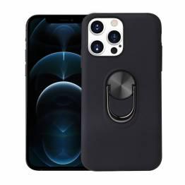 """Smart iPhone 13 Pro Max skal 6,7"""" med 360° stativ och magnet - Svart"""