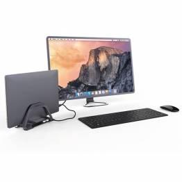 Goobay USB-C till HDMI-docka med 2x USB och Micro SD-kort