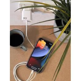 20W laddare för iPhone/iPad med USB-C PD och USB-C för Lightning-kabel