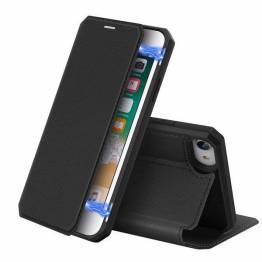 DUX DUCIS iPhone 7, 8 och SE 2020 skal med kortplats och flik - svart