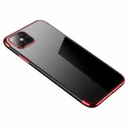 Clear Color skal till iPhone 12 mini - röd