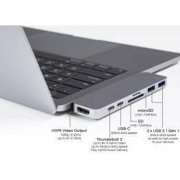 HYPER-THUNDERBOLT 3 USB-C-hubb för den nya MacBook Pro