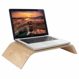 Macbook og skærmholder i træ