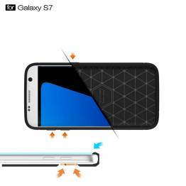 Samsung Galaxy S7 Cover, Borstad svart