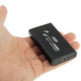 mSATA SSD-hårddiskhållare med USB 3,0