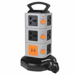 Haweel universiel stikdåse tårn med USB