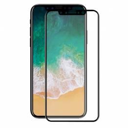 Beskyttelsesglas til iPhone X med sort kant