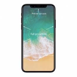 Skyddande glas för iPhone X med svart ram
