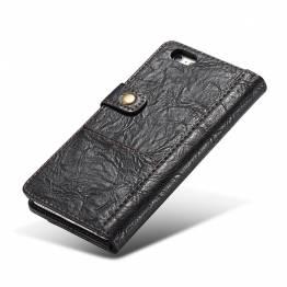Fedt iPhone læder cover sort/brun t. ip5,6,7,8,X