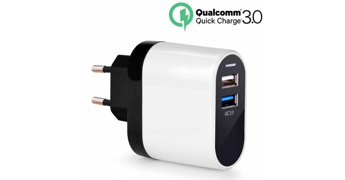Avantree QC 3.0 dual 2xUSB oplader 23W Mackablar.se fra