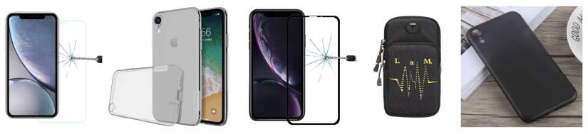 iPhone XR täcker och skyddande glas