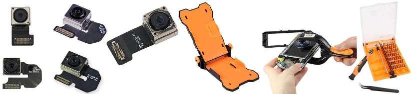 Främre och bakre kamera uppsättningar för iPhone Repair