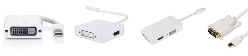 Mini displayport (Thunderbolt) til DVI adaptere og kabler