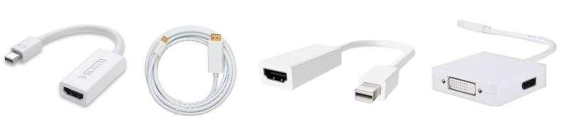 Thunderbolt (Mini DisplayPort) för HDMI-adaptrar och-kablar