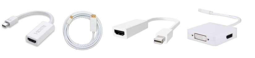 Thunderbolt (Mini displayport) til HDMI adaptere og kabler