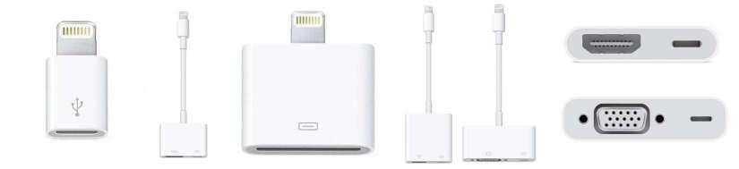 Lightning adaptere og kabler til iPhones og iPads