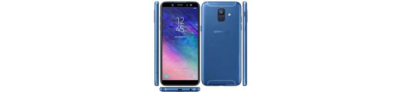Samsung Galaxy A6 tillbehör, överdrag, skyddande glas, kablar, adaptrar och reparationsutrustning